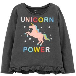 Carter's Unicorn Power Tee (Short Sleeve) 🦄